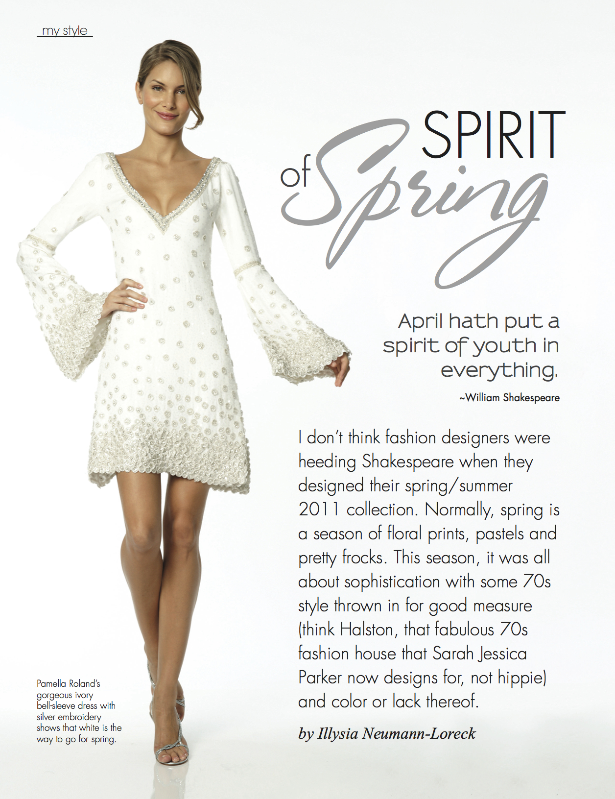 As seen in April 2011 MY magazine