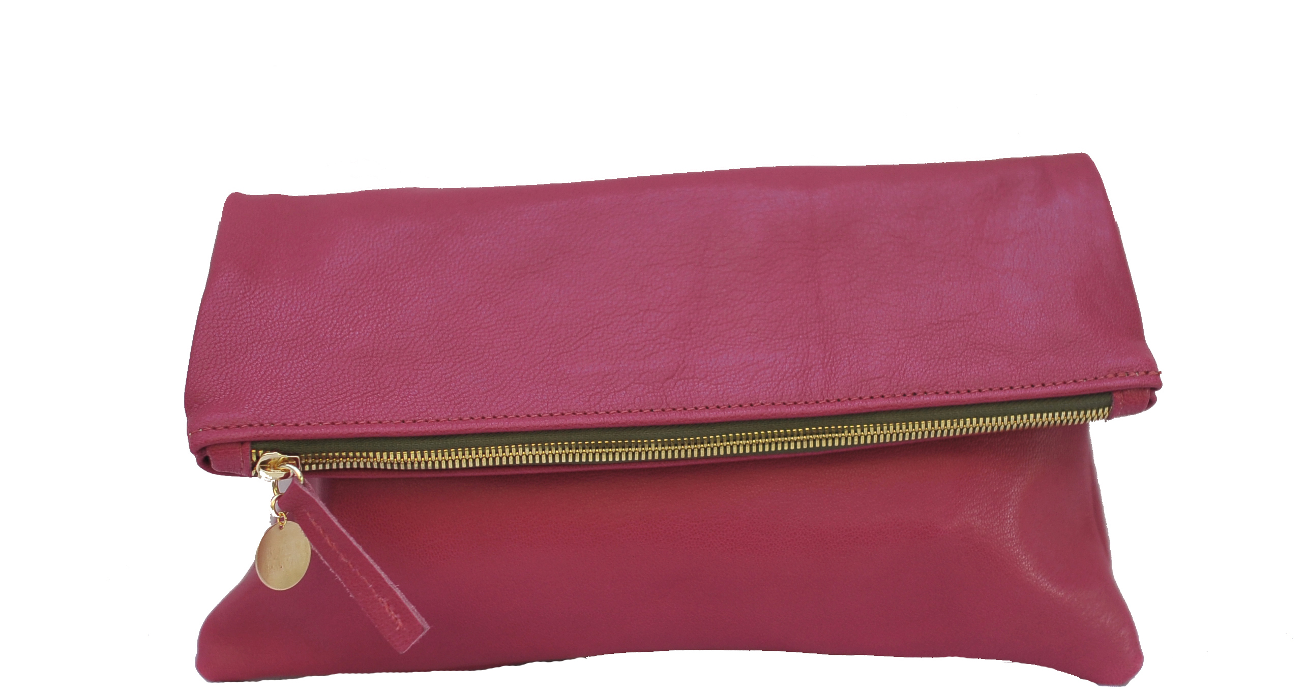 This clutch is also available in pink for moms who love bright colors