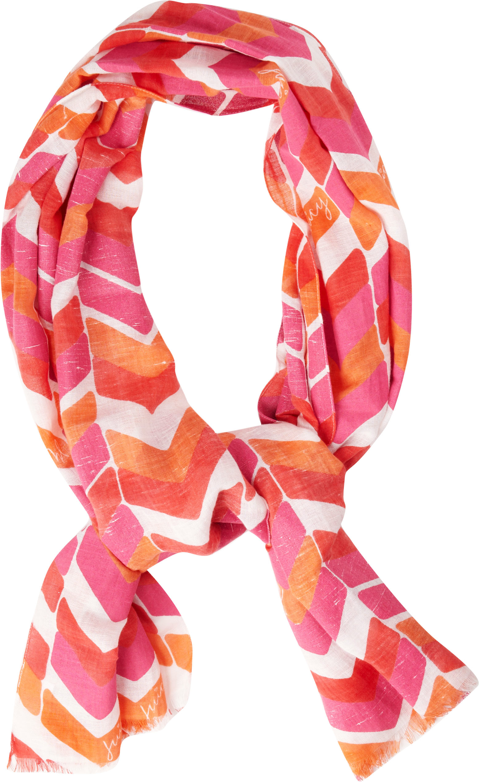 Chevron stripes are very trendy and very cute, especially on this scarf!
