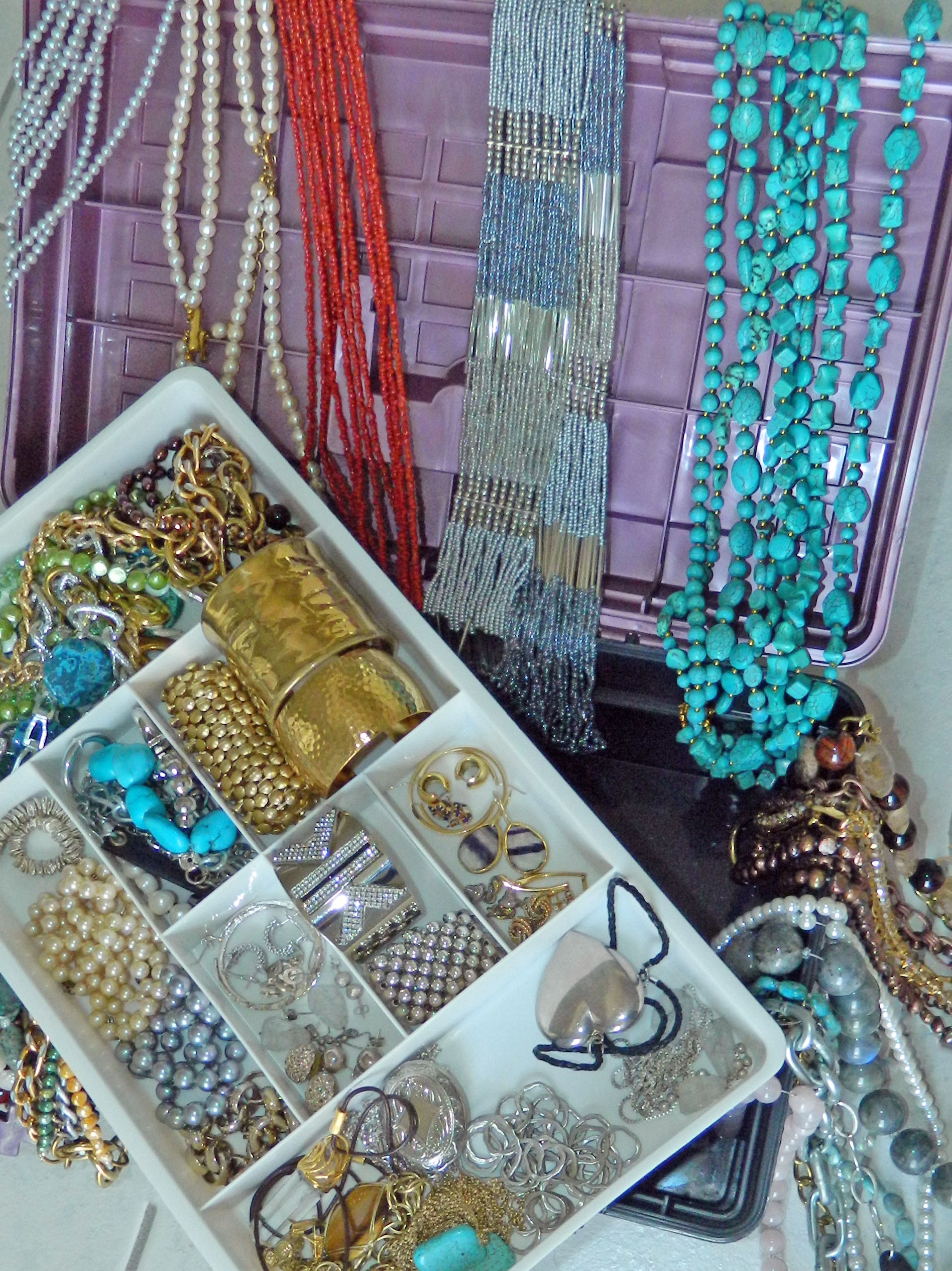 A tackle box makes a great place to store jewelry