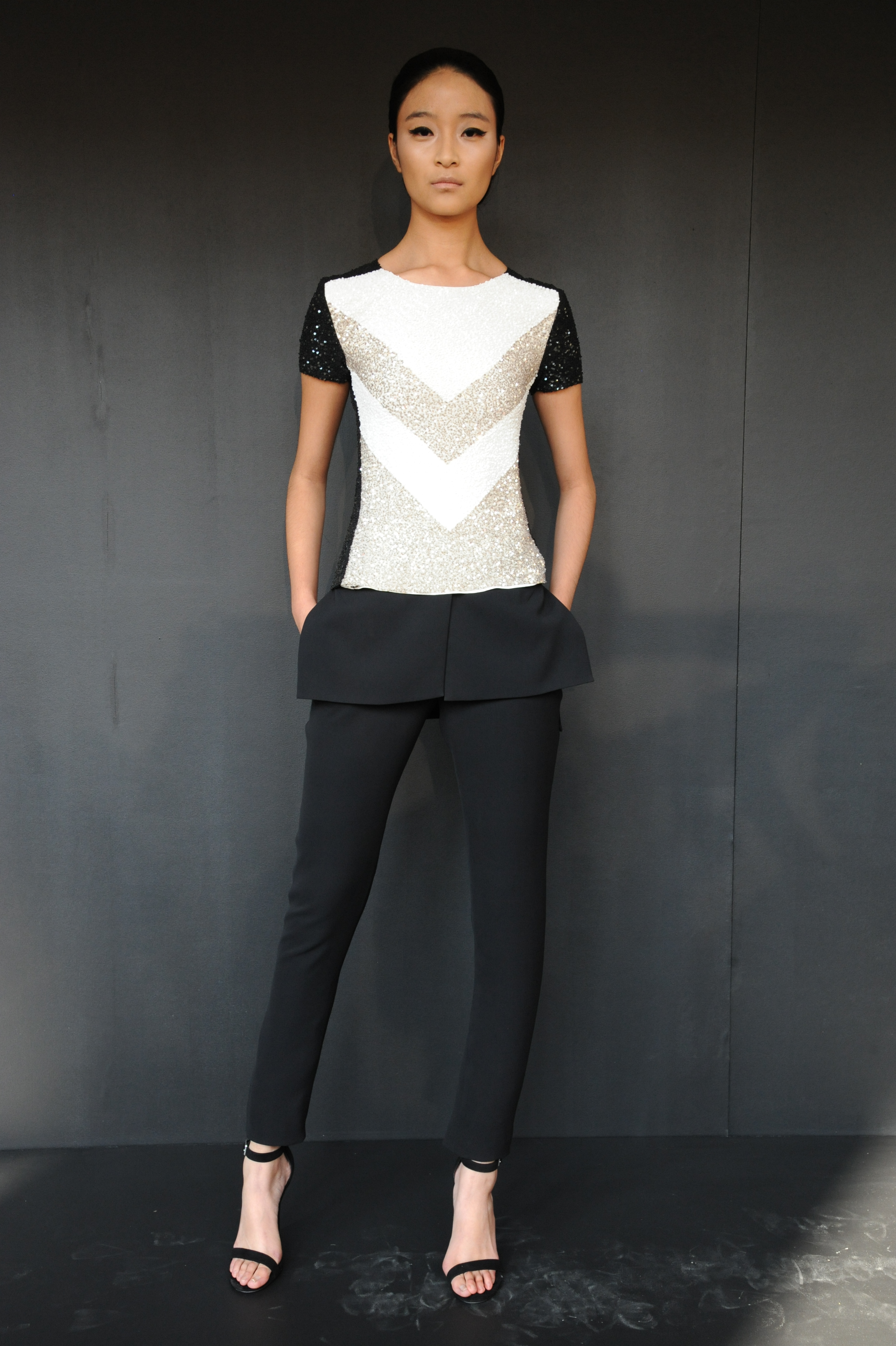 Peplum, so hot for fall, shows up in spring collections too