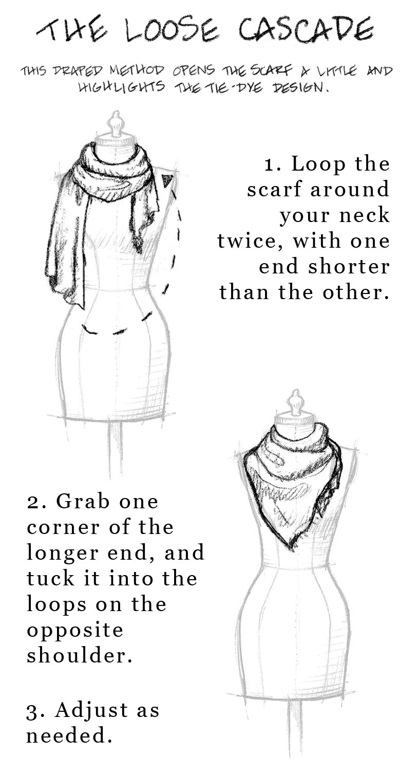 How To Tie A Long Scarf Tying Diagram