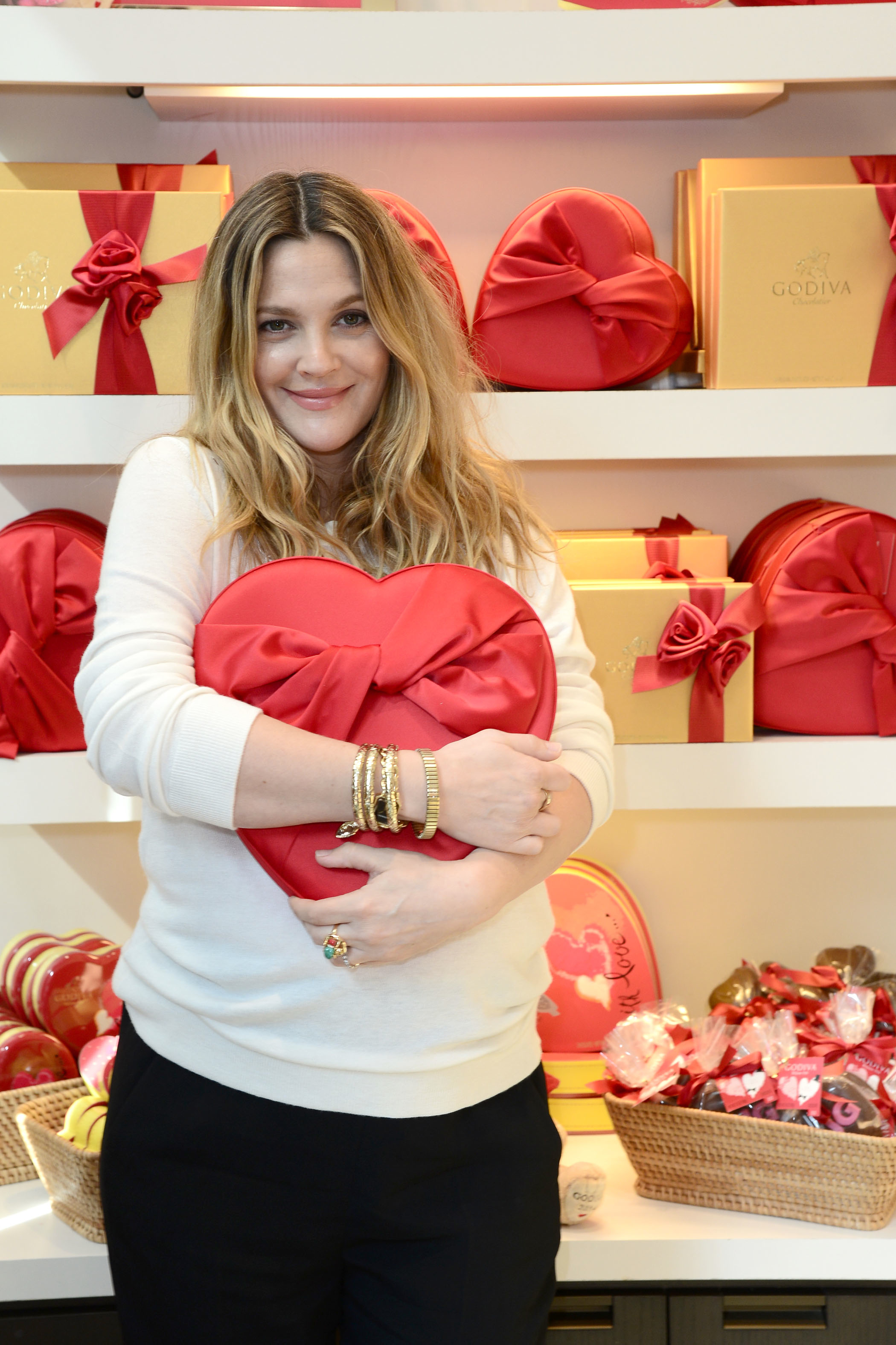 Drew Barrymore Stops by GODIVA To Kick-Off Valentine`s Day Partnership For Her Book Find It In Everything