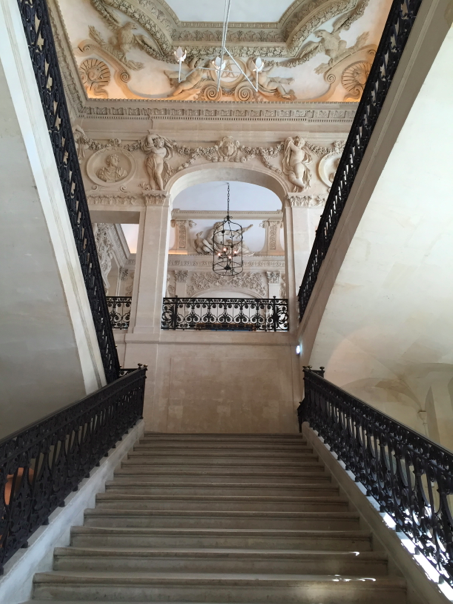 The incredibly ornate main stairwell