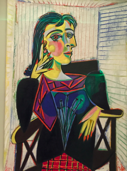 "Pictures of Paris A portrait of Picasso's famous muse, Dora Maar. After being with him for a decade she became very religious and said, ""After Picasso, God"""